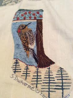 flicker wool hooked stocking
